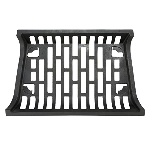 """(Pinty 24"""" Heavy Duty Fireplace Log Grate for Outdoor Fire Place Kindling Tools Pit Wrought Iron Wood Stove Firewood Burning Rack Holder Black)"""