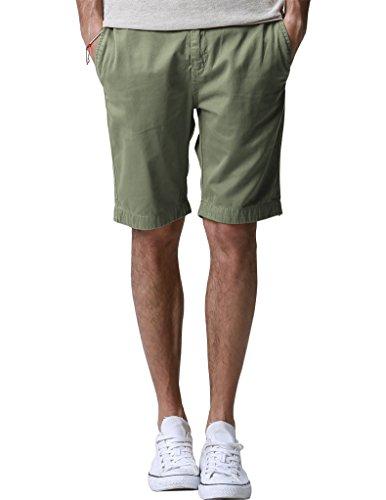 Match Mens Chino Shorts Regular Fit #S3641(32,Light army green)