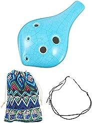 ARTIBETTER Conjunto 1 6 Buraco Ocarina para Crianças Iniciantes Inclui Colhedor E Saco de Plástico Alto AC Oca