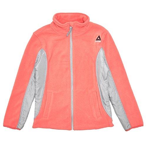 (Reebok Girls Active Fleece Jacket, Coral/Grey (10/12))
