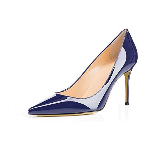 con Scarpe CM Spillo Blue Donna EDEFS Tacco Tacco 8 Donna Dark da A Scarpe wqxB5xpd