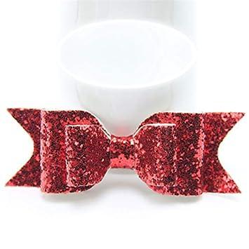 3pcs Mermaid Hair Bows Glitter Hair Clip Rose Gold Leather Headband Hairpins