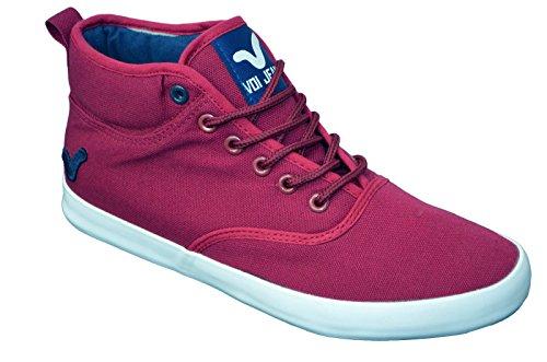 Zapatillas funda Voi Jeans para hombre elegante Hi Top Zapatos Gimnasio Walking bombas zapatillas calzado granate/azul marino