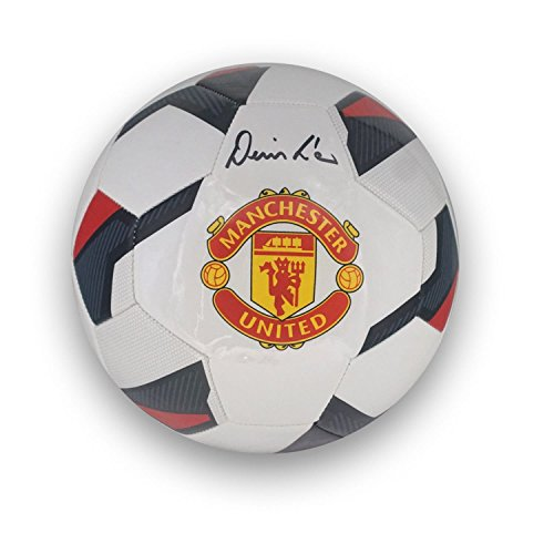 Denis Law Signed Manchester United Football | Autographed Soccer Ball