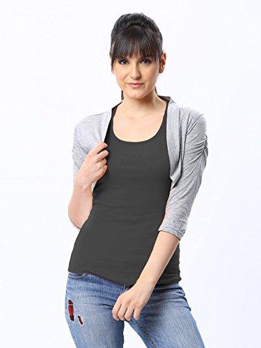 Espresso - Lote de camiseta y bolero para mujer Grey/Black