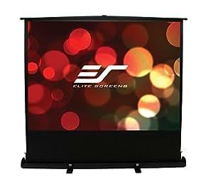 Elite Screens ezCinema Plus Series, 84-inch Diagonal 16:9, Floor Pull Up Portable Projection Screen, Model: F84XWH1