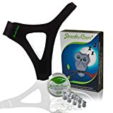 Anti Snoring CPAP Chin Strap For Sleep Apnea - Natural Effective Snoring Solution And Anti Snoring Devices - Extended Snoring Chin Strap, Extra Bounos Nose Vents - Stop Snoring Sleep Aid For Men Women