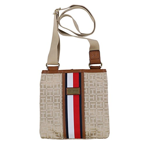 Purse Hilfiger Tommy Signature Stripe Tan Crossbody qfIUwI