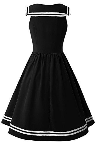 31fd2fca590c14 ... Misshow Jersey Partykleid Marine s-2xl Schwarz Gr Schule Kleid Up  Sommerkleid Damen Pin ...