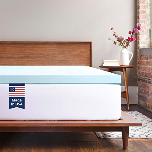 ViscoSoft Memory Foam Mattress Topper Queen 3 Inch Response Gel Mattress Pad