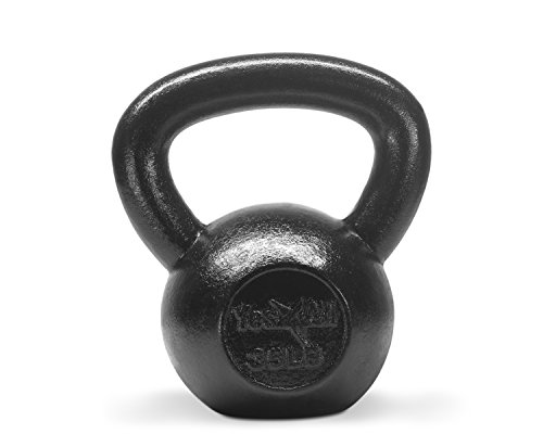 Yes4All Solid Cast Iron Kettlebell 5, 10, 15, 20, 25, 30, 35, 40, 45, 50, 55, 60 lb, Classic Black, 35 lb Review