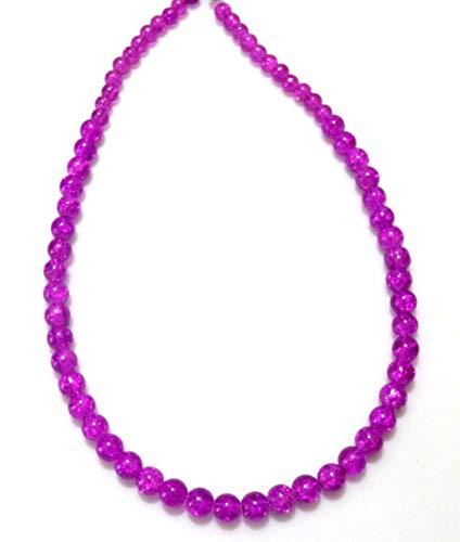 Purple Crystalline Glass Beaded Necklace (1567)