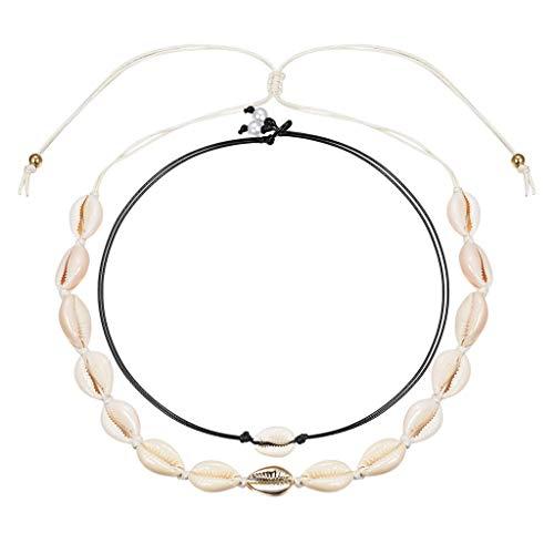 KOORASY Natural Cowrie Shell Choker for Women Handmade Seashell Pearls Adjustable Summer Boho Hawaii Wakiki Beach Necklaces Jewelry Girls ...