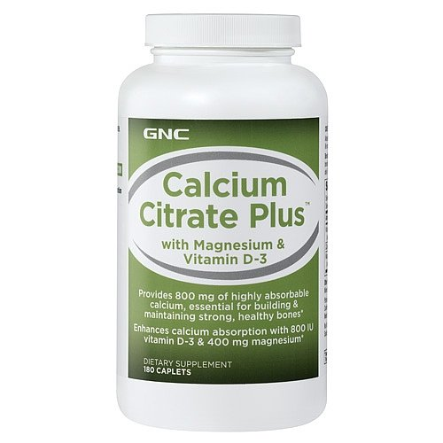 GNC Calcium Citrate Plus with Magnesium Vitamin D3 180 Caplets