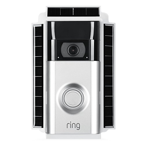 Wasserstein Weatherproof Solar Charger Mount for Ring Video Doorbell 2 Continuous Charging for Maximum Efficiency Black