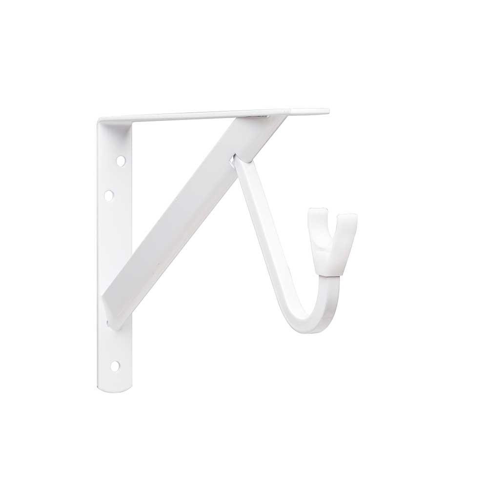 Closet-Pro HD RP-0495-WT Heavy Duty Shelf & Rod Bracket, White