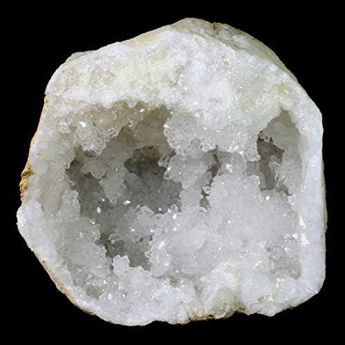 Large Blue noduleNatural quartz crystal geode Slicerock and mineralmineral collectionhome decorbandedquartz druzypolishedhalfLGAAA