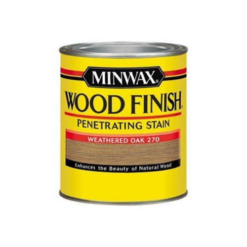 Minwax 700474444 Wood Finish Penetrating Stain, quart, Weathered Oak (Oak Stain Doors)