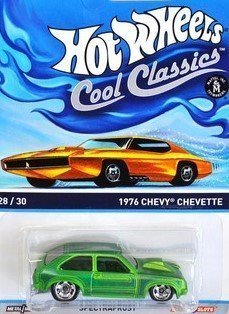 buy hot wheels cool classics green 1976 chevy chevette with picture of orange car on package online at low prices in india amazon in buy hot wheels cool classics green 1976