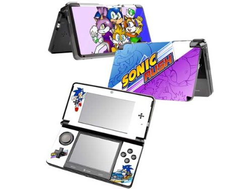 Sonic Rush Pattern Decals Protective Vinyl Skin Sticker for Nintendo 3ds Console System