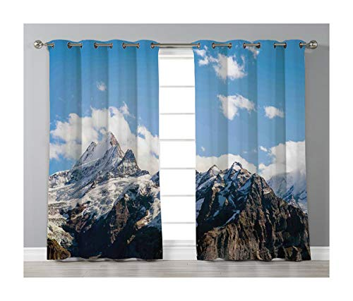 Price comparison product image Goods247 Blackout Curtains, Grommets Panels Printed Curtains for Living Room (Set of 2 Panels, 55 by 84 Inch Length), Lake House Decor