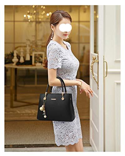 Pu Shopping Bag In Lavoro Viaggio Capacità Cosmetici Donna Borsa Black Femminile Tracolla Pelle Piccola Messenger Da Flht Grande xBvYaA