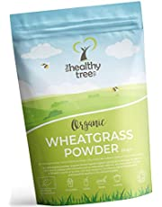 Organic Wheatgrass Powder from Germany by TheHealthyTree Company - High in Fibre, Vitamin E, Potassium and Chlorophyll - Pure European Vegan Wheat Grass, Perfect in Green Juices (250g)