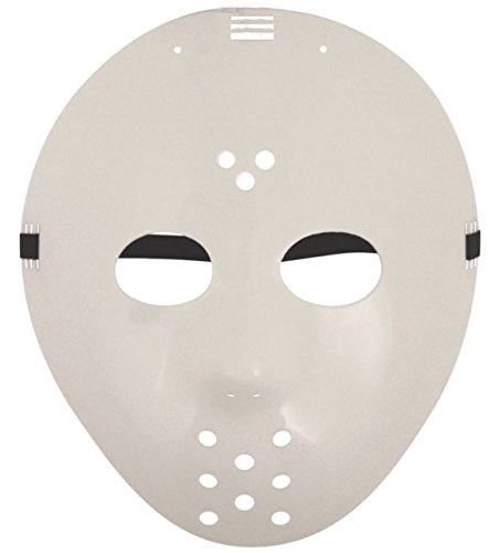 Komonee Jason Hockey Traje Blanco máscara de Halloween (Pack of 10) (HM22)