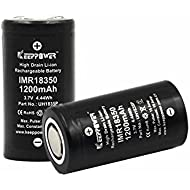 2 Pcs KeepPower Flat Top 18350 10A Discharge IMR 1200mAh 3.7V UH1835P Quality High Drain Li-ion Rechargeable Lithium Battery UH1835P