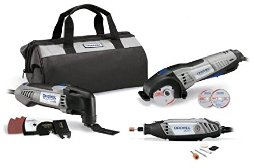 Dremel CKDR-02 Ultimate 3-Tool Combo Kit With 15 Accessories And Storage Bag .#GH45843 3468-T34562FD675540