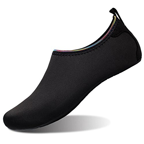 para Zapatos Run Dive Unisex de Piel Surf de L Oro Zapatos Negro Agua descalza Beach Yoga Run Swim RXwzFqd