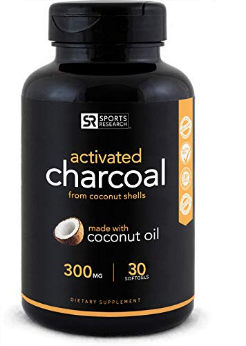 Coconut Activated Charcoal Liquid softgels   Fast detoxing for Better Digestion   Non-GMO & Gluten Free