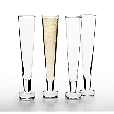 Paris Wine Bar Champagne Flutes (Set of 4)