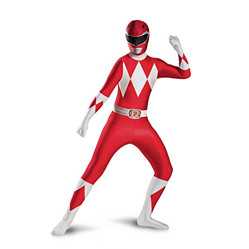Disguise childs Red Ranger Bodysuit Costume, Red, (Morphin Power Ranger Costume)