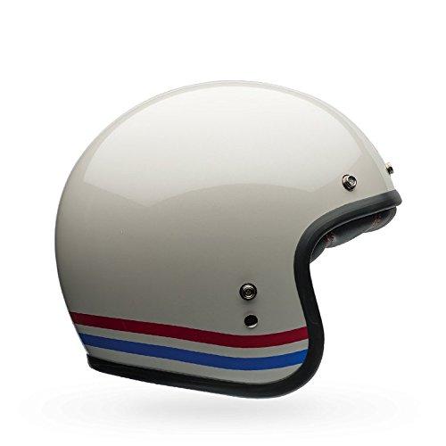 Bell Custom 500 Unisex-Adult Open face Street Helmet (Stripes Pearl White, Medium) - Stores Pearl Ms In