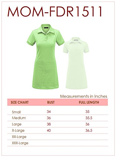 MBJ Kids KDR1511 Mommy and Me Short Sleeve Polo Dress - Made in USA KM Mint by MBJ Kids (Image #4)