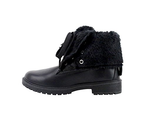 Briarwood' up Olivia Black Miller Boots Cuff Lace Fur AOxqf5w