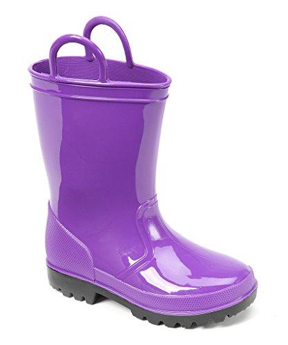 Ska Doo Dark Purple Kids Rain Boots 6 M US Toddler by SkaDoo (Image #1)