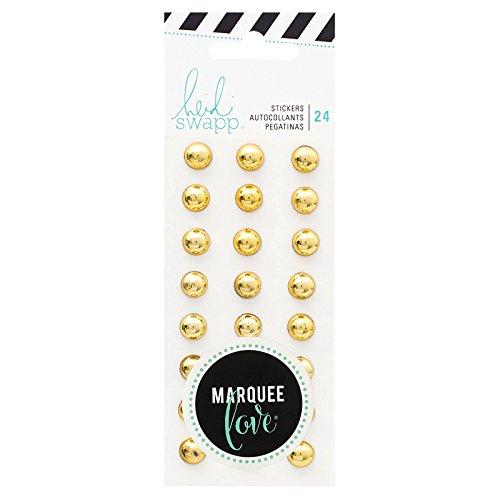 (American Crafts Heidi Swapp Marquee Accessories Stud Stickers Gold 24 Piece)