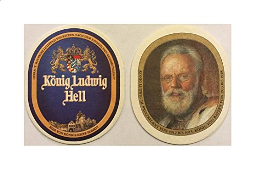 Konig Ludwig Hell 10 Beer Bar Pub Coasters Imported from Germany ()