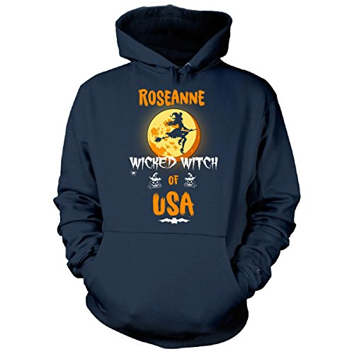 Roseanne Wicked Witch Of Usa. Halloween Gift - Hoodie Navy (Roseanne Halloween Witch)