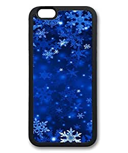 Black Case for iphone 6 Plus,Fashion Cool Art Snowflake Custom Protective Soft TPU Back Case Cover for iphone 6 Plus Kimberly Kurzendoerfer