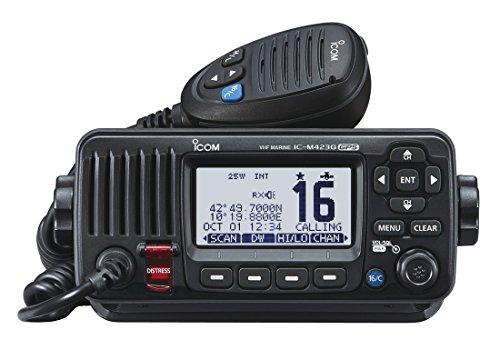 Icom Class D VHF DSC Radio with Built-In GPS - Black