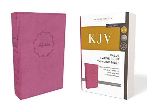 (KJV, Value Thinline Bible, Large Print, Leathersoft, Pink, Red Letter Edition, Comfort Print: Holy Bible, King James Version)