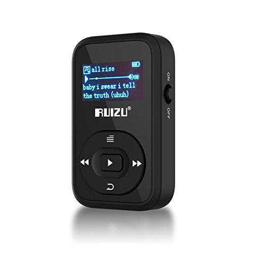 Mp3 Music Player with Bluetooth, 2017 RUIZU Mini Portable Lossless MP3 Movies Player with FM Radio for Running
