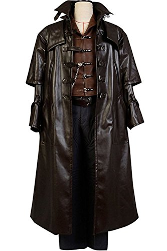 [mingL Gabriel Van Helsing Cosplay Costume Vampire Hunter Suit Outfit Coat Jacket Hat] (Monster Hunter Cosplay Costume)