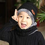 EDITHA Kids Lovely Knit Hat and Scarf Set Winter