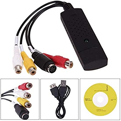 Video Capture USB 20 VHS to Digital Video Converter Audio Capture Card Device Adapter VHS VCR TV to