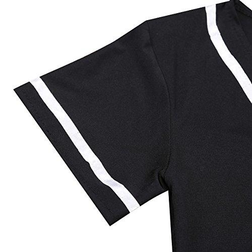 184ff238eed Freebily Sexy Lingerie Schoolgirl Cosplay Cheerleader Student Costume Black  XXXX-Large