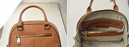 Simple conchas casuales, bolsos, mochila oblicua señoras, bolso de hombro, pequeña bolsa cuadrada ( Color : Marrón ) Marrón